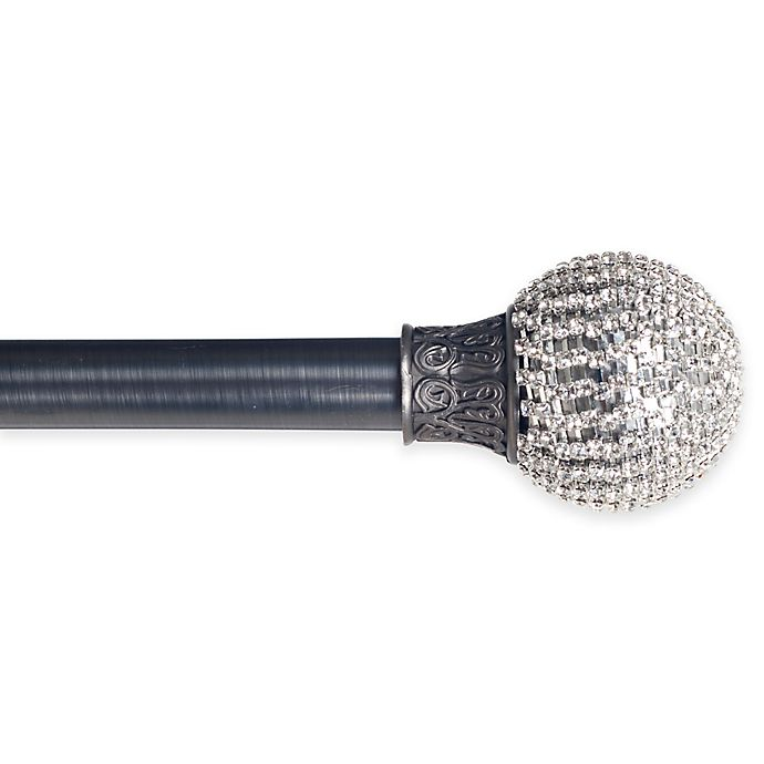 Alternate image 1 for Sparkling Ball 48 to 86-Inch Adjustable Curtain Rod in Pewter