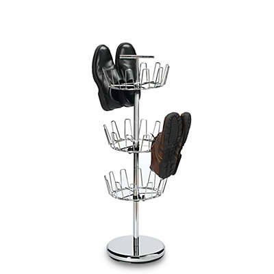 3-Tier Chrome Revolving Shoe Rack