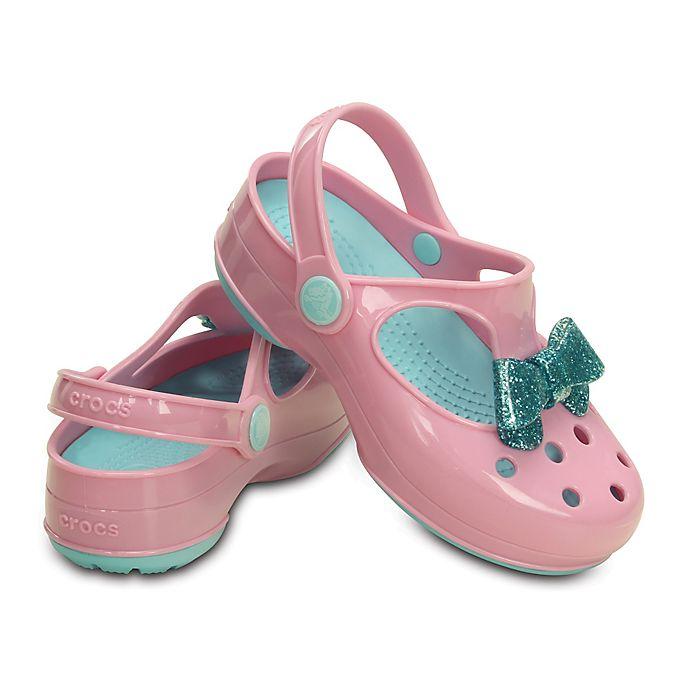 48b9c81b5a727 Crocs™ Kids  Carlie Glitter Bow Mary Jane in Pink