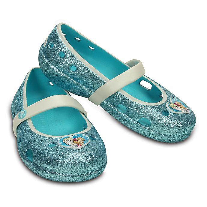 """Alternate image 1 for Crocs™ Kids' Keeley """"Frozen"""" Flat in Pool Blue"""