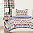 Part of the Crayola® Mixed Palette Chevron Reversible Comforter Set