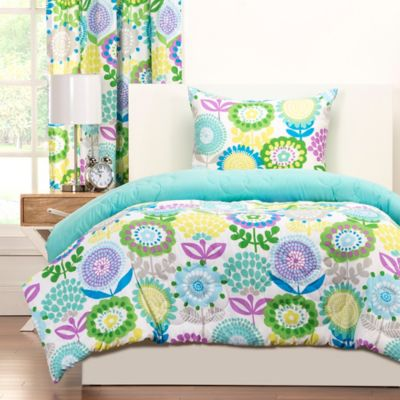 Crayola 174 Pointillist Pansy Reversible Comforter Set Bed