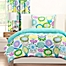 Part of the Crayola® Pointillist Pansy Reversible Comforter Set