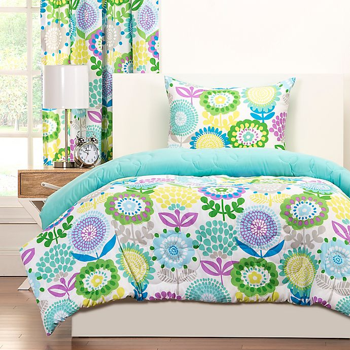 Crayola Pointillist Pansy Reversible Comforter Set Bed Bath Beyond