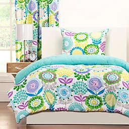 Crayola® Pointillist Pansy Reversible Comforter Set