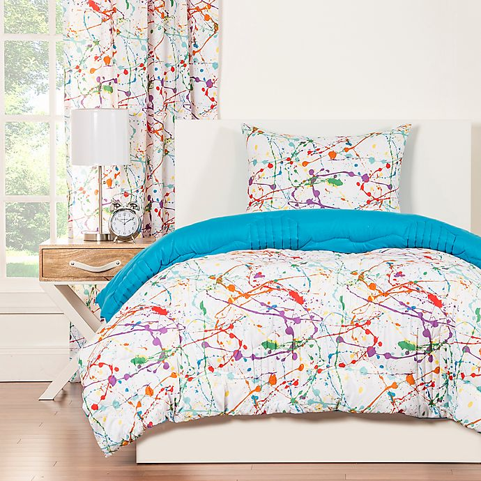 Alternate image 1 for Crayola® Splat 3-Piece Reversible Twin Comforter Set
