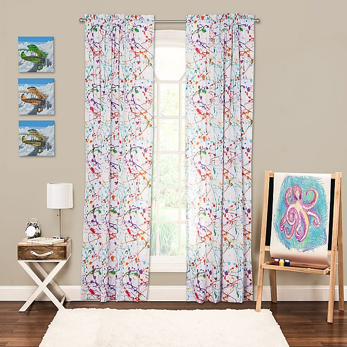 Alternate image 1 for Crayola® Splat Rod Pocket 84-Inch Window Curtain Panel