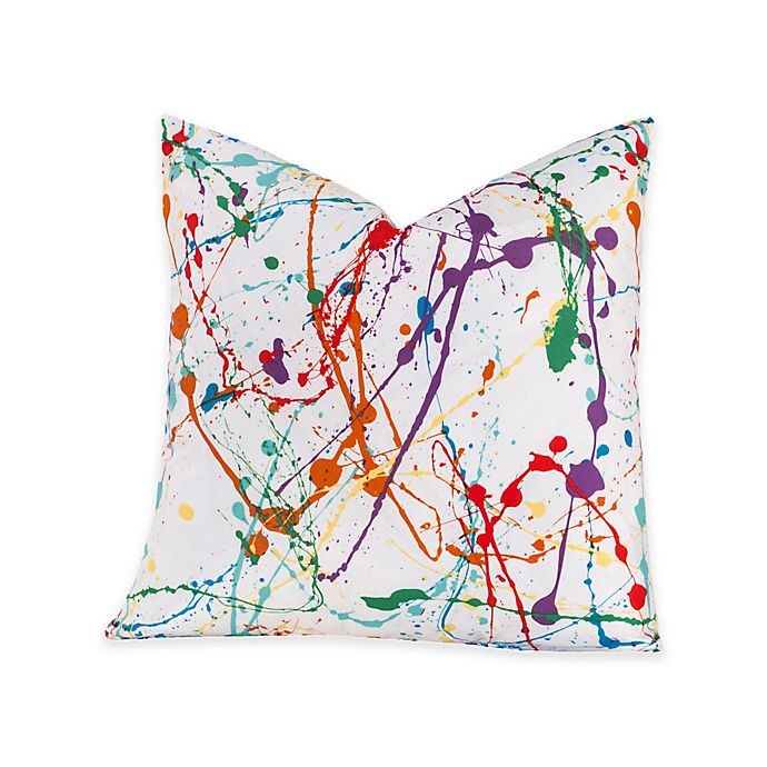 Alternate image 1 for Crayola® Splat 16-Inch Square Throw Pillow