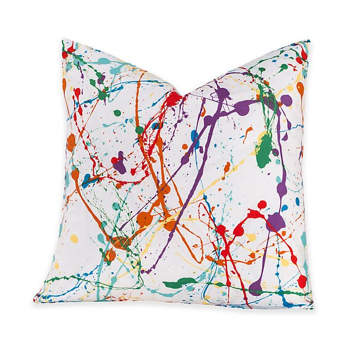 Alternate image 1 for Crayola® Splat 18-Inch Square Throw Pillow