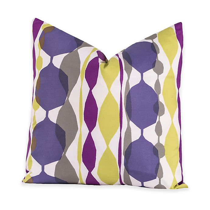 Alternate image 1 for Crayola® Bejeweled 16-Inch Square Throw Pillow in Purple