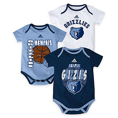 "NBA Memphis Grizzlies ""3 Point Spread"" 3-Piece Bodysuit Set"