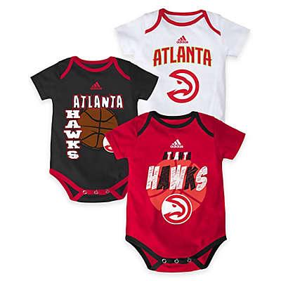 "NBA Atlanta Hawks ""3 Point Spread"" Bodysuit Set (Set of 3)"