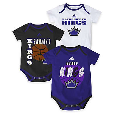"NBA Sacramento Kings ""3 Point Spread"" Bodysuit Set (Set of 3)"
