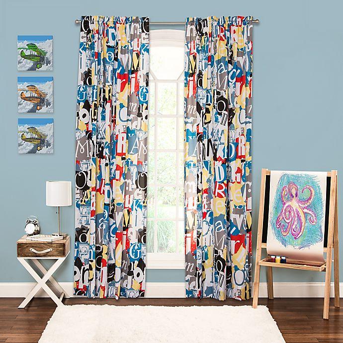 Alternate image 1 for Crayola® Dream On 84-Inch Window Curtain Panel