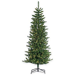 Augusta Pine 7-Foot Pre-Lit Narrow Christmas Tree with Clear Lights
