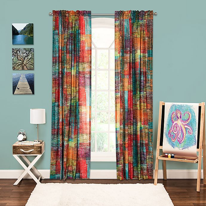 Alternate image 1 for Crayola® Etch 84-Inch Rod Pocket Window Curtain Panel