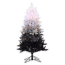 Vintage Black Ombre Spruce Pre-Lit Christmas Trees