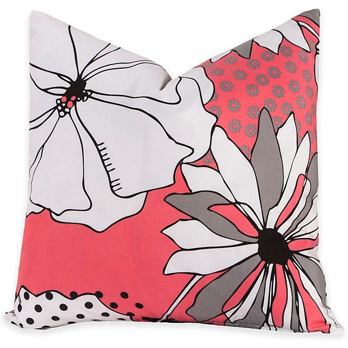 Alternate image 1 for Crayola® Flower Patch European Pillow Sham in Pink/Grey