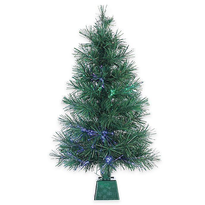 Fiber Optic Light Christmas Tree: 3-Foot LED Fiber Optic Pre-Lit Christmas Tree With Multi