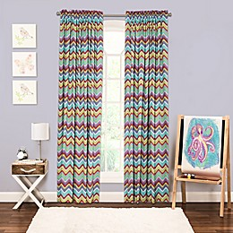 Crayola® Mixed Palette Chevron 84-Inch Window Curtain Panel