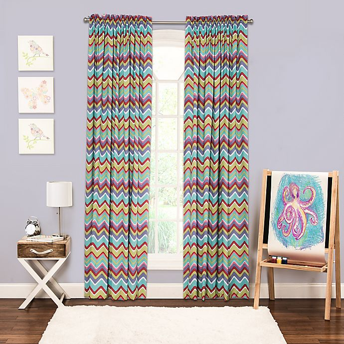 Alternate image 1 for Crayola® Mixed Palette Chevron 84-Inch Window Curtain Panel