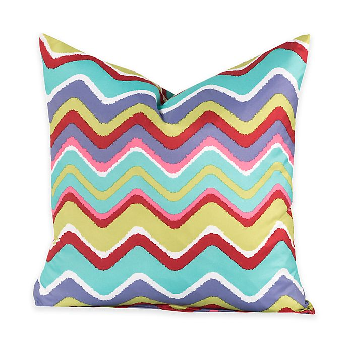 Alternate image 1 for Crayola® Mixed Palette Chevron 18-Inch Square Throw Pillow