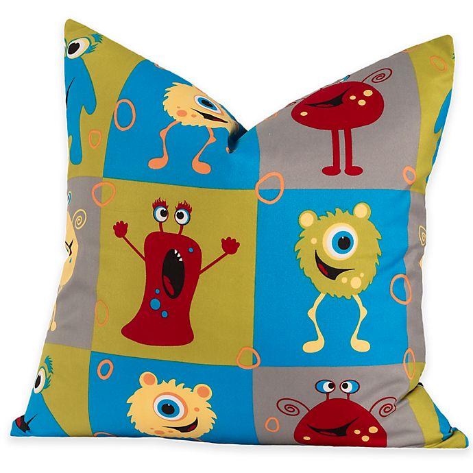 Alternate image 1 for Crayola® Monster Friends European Pillow Sham in Blue