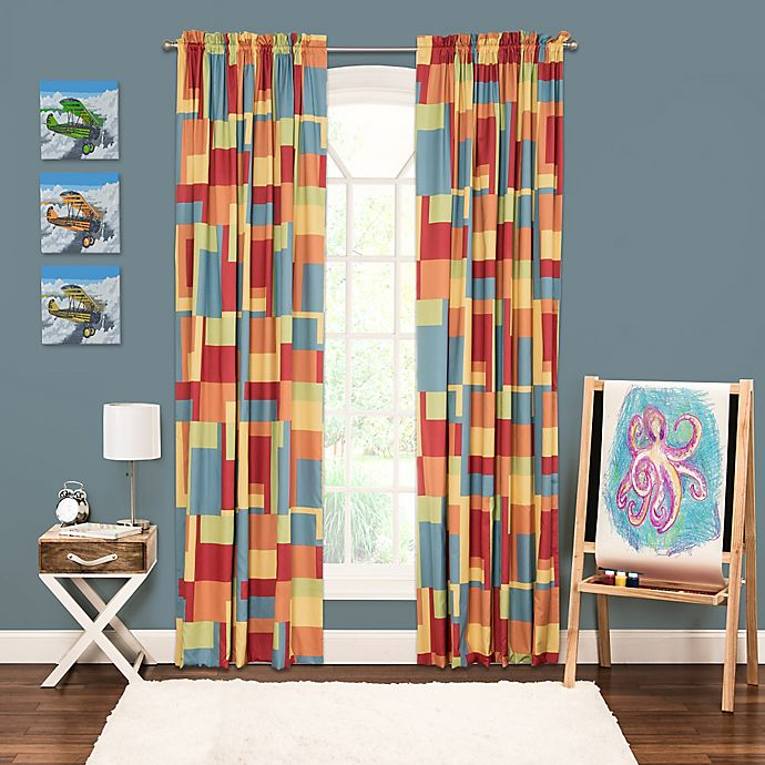 Alternate image 1 for Crayola® Paint Box 84-Inch Window Curtain Panel