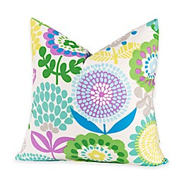 Crayola® Pointillist Pansy 18-Inch Square Throw Pillow