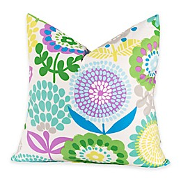 Crayola® Pointillist Pansy 20-Inch Square Throw Pillow