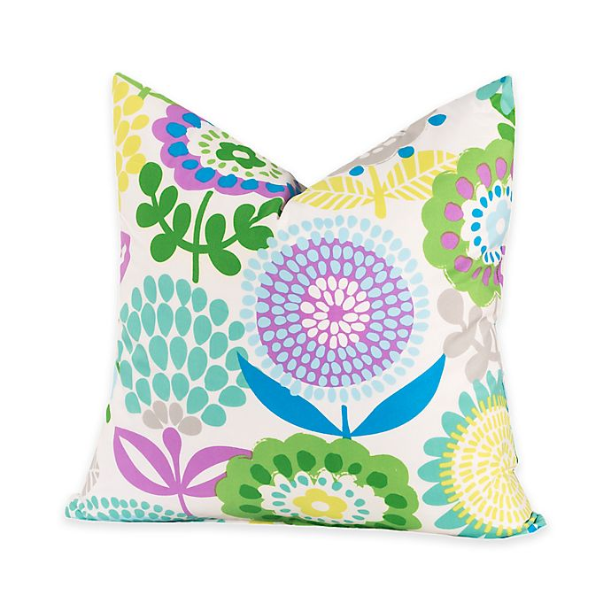 Alternate image 1 for Crayola® Pointillist Pansy 17-Inch Square Throw Pillow