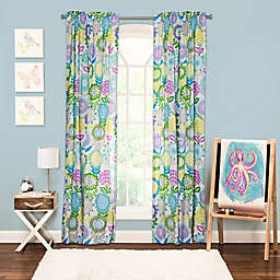 Crayola® Pointillist Pansy 84-Inch Window Curtain Panel
