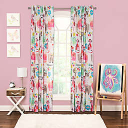 Crayola® Purrty Cat 84-Inch Rod Pocket Window Curtain Panel in Pink/White