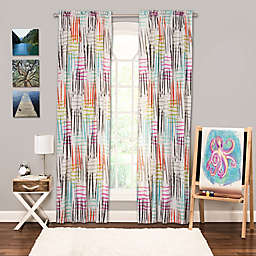 Crayola® Stroke of Genius Rod Pocket 84-Inch Window Curtain Panel