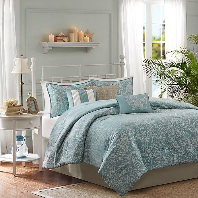 Alternate image 1 for Madison Park Carmel 7-Piece Reversible King Comforter Set in Blue