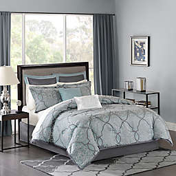 Madison Park Lavine Comforter Set in Blue