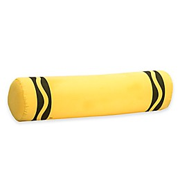 Crayola® Laser Lemon Crayon Bolster Throw Pillow in Yellow