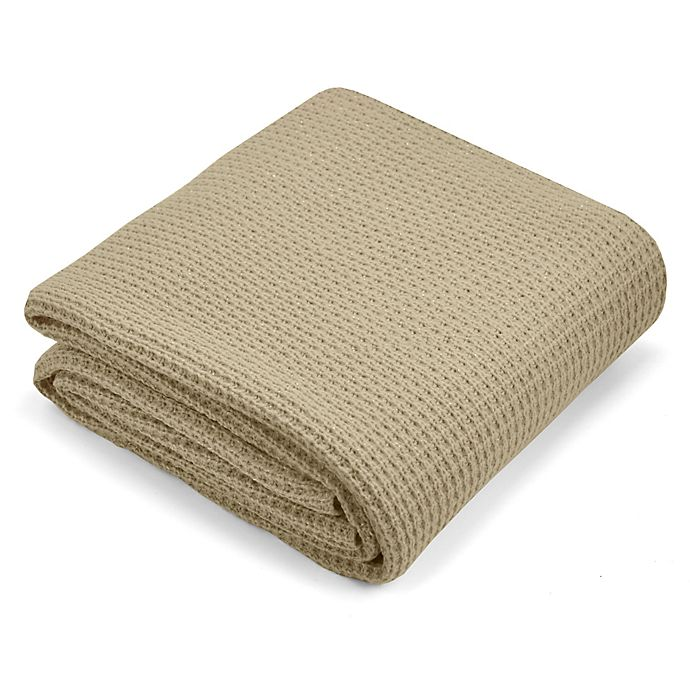 Alternate image 1 for Metallic Oversized Knit Throw Blanket in Gold