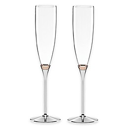 kate spade new york Rosy Glow™ Toasting Flutes (Set of 2)