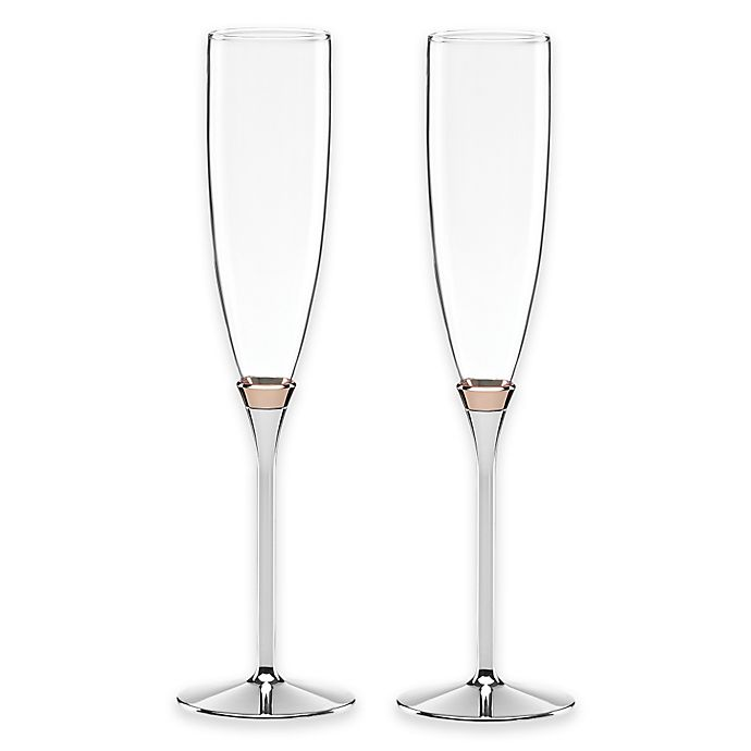 Alternate image 1 for kate spade new york Rosy Glow™ Toasting Flutes (Set of 2)