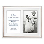 kate spade new york Rosy Glow™ 5-Inch x 7-Inch Double Picture Frame