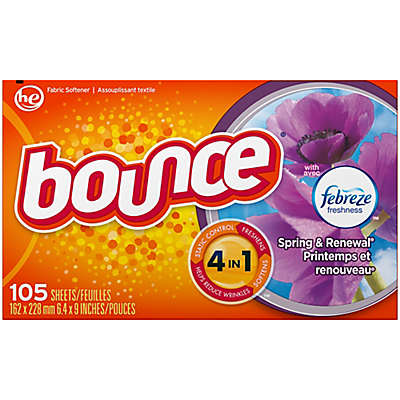 Bounce® with Febreze™ 105-Count Dryer Sheets in Spring and Renewal