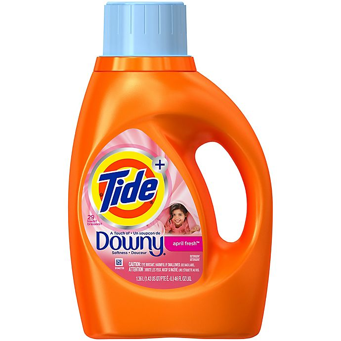 Alternate image 1 for Tide® April Fresh® 46 oz. 2X Liquid Laundry Detergent With Touch of Downy®