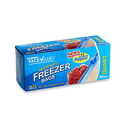 Harmon® Face Values™ 30-Count 1 Quart Heavy Duty Freezer Bags with E-Z Slide Zipper
