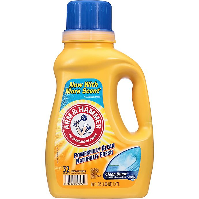 Alternate image 1 for Arm and Hammer™ 50 oz. Liquid Laundry Detergent in Clean Burst