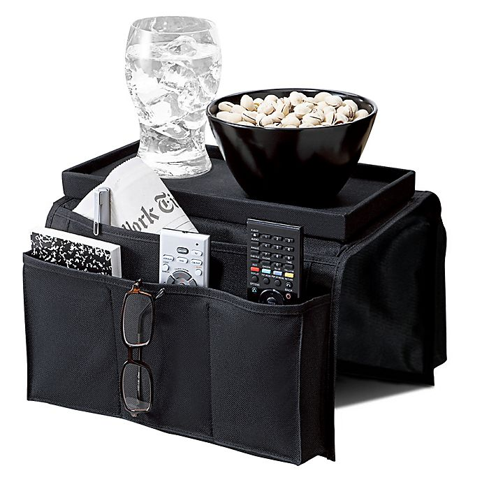 Alternate image 1 for 6-Pocket Armrest Organizer with Tray Top in Black