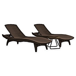 Keter® Pacific Sun 3-Piece Lounger Set