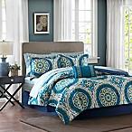 Madison Park Essentials Serenity 9-Piece Queen Comforter Set in Blue