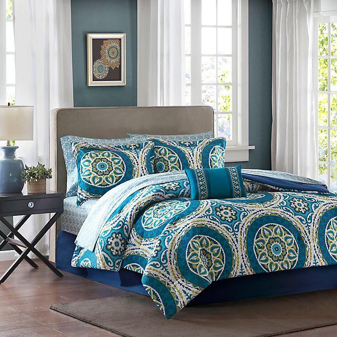 Alternate image 1 for Madison Park Essentials Serenity 9-Piece Full Comforter Set in Blue