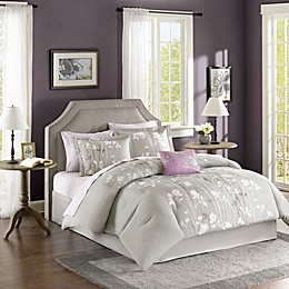 Madison Park Essentials Vaughn Comforter Set in Grey